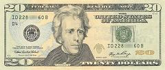 money us 20 dollar bill