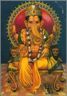 ganesha god with elephant head