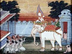 royal white elephant in thailand