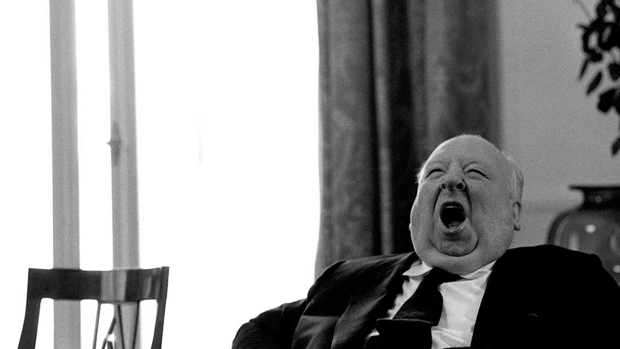 alfred hitchcock yawning