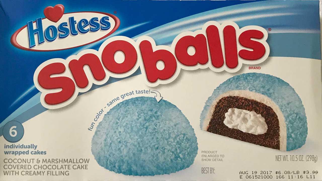 Hostess Sno Balls Blue