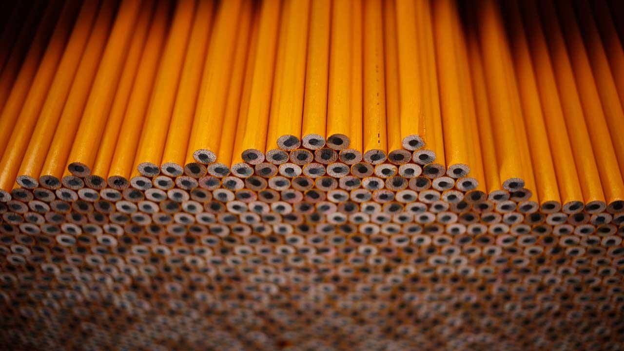 stacks of pencils