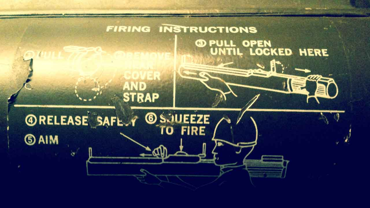 bazooka firing instructions