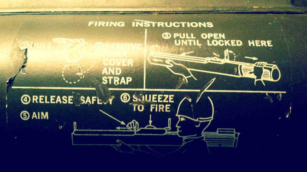 bazooka firing instructions