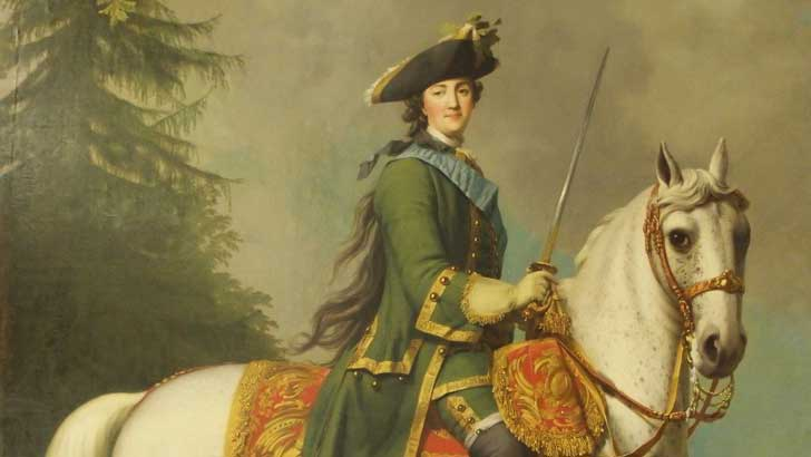 Catherine the Great and a horse