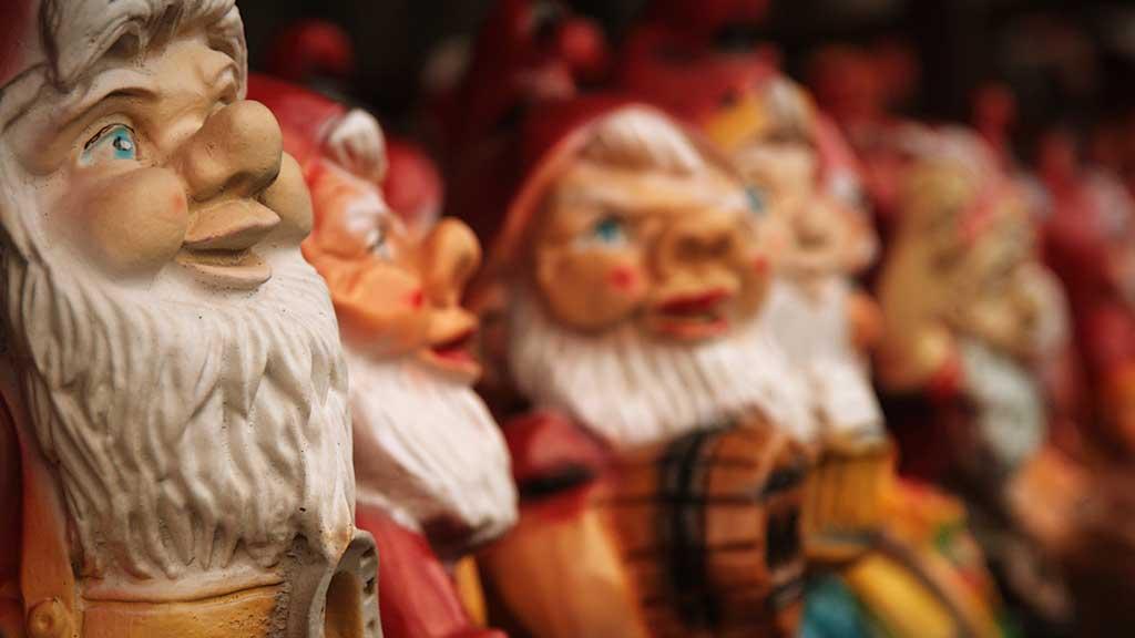 dwarfs in a store