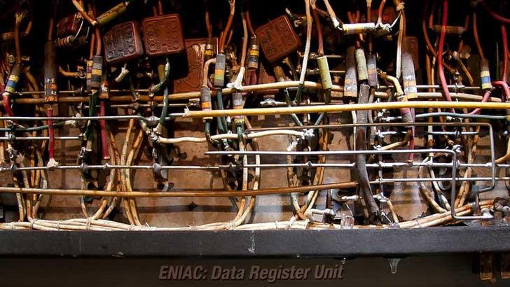 ENIAC data register unit