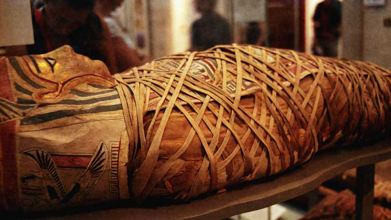 acient egyptian mummy with no sarcophagus
