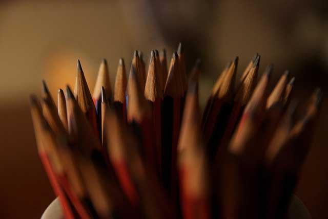 how do pencils write