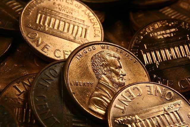 pennies on dead people