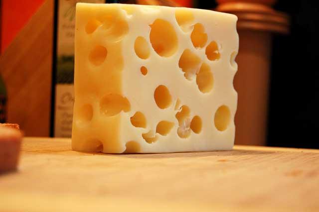 swiss cheese block